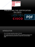 Presenting the Certification on Cisco