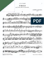 Trio Pour Violon, Alto Et Violoncelle Op.58 - Parties - Albert Roussel