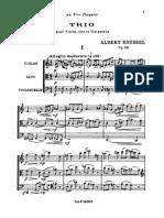 Trio Pour Violon, Alto Et Violoncelle Op.58 - Albert Roussel