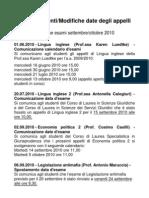 Aggiornamenti_modifiche 20 settembre 2010
