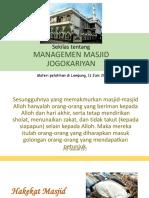 Managemen Masjid - For Juni 2017