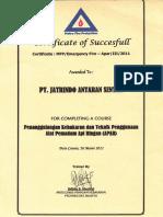 16.3 Certificate of Succesfull_Apar