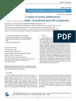 Unusual Cause of Acute Pulmonary Thromboembolism Kasabach Merritt Syndrome