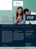 Job Opportunity - Mercure Maldives Koodoo, Maldives - 28 September 2018
