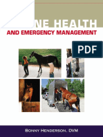 Equine Health and Emergency Management 1st Ed