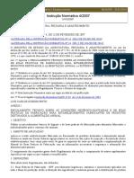 Instrução Normativa Nº4, De 23 de Fevereiro de 2007 [MAPA] [POR]