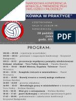 I Międzynarodowa Konferencja Szkoleniowa Dla Trenerów Piłki Siatkowej