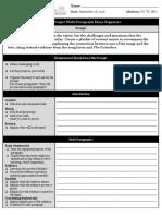 playlist project multi-paragraph essay organizer 9 2f28