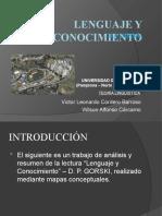 LENGUAJE Y CONOCIMIENTO - D. P. GORSKI
