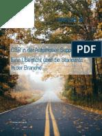 CSR in der Automotive Supply Chain - Eine Übersicht über die Standards in der Branche