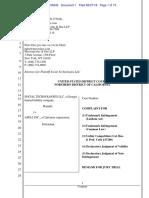 Sept 2018 Social Tech Memoji Trademark Complaint (1)