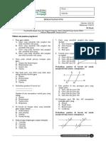 Soal MTK PM PTS Kelas 4D Tema Garis