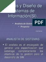 Analista de sistema y proyecto