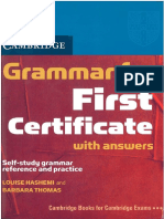 Grammar First Certificate Self Study