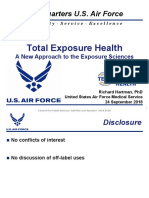 Total Exposure Health -A New Approach to the Exposure Sciences