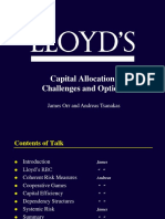 Capital allocations