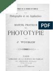 Manuel Pratique de Phototypie - J. Voirin (1892)