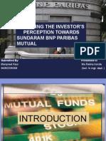 ANALYZING THE INVESTOR'S      PERCEPTION TOWARDS SUNDARAM BNP PARIBAS