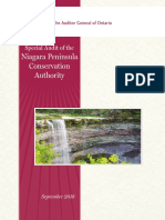 Ontario Auditor General report on the NPCA.