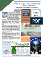 18 10 04 Montgomery Baptist Newsletter