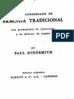Paul Hindemit . Armonía Tradicional