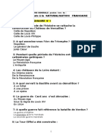 Naturalisation Test Culture Generale 1-7-2012