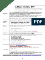 TOSHIBA Global Internship 2018_Application Guidelines & Position List