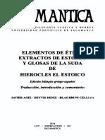 Hierocles, Ed. Javier Aoiz, Deyvis Deniz Blas