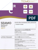 SEAMO 2017 PAPER C With Answer Sheet