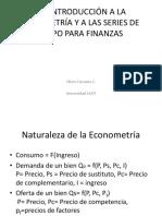 Una Introducción a La Econometría y a Las3