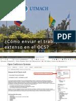 ¿Cómo enviar el trabajo en extenso en el OCS?