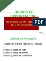 Desarrollo del Precio de Exportación 2008