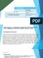 Perfil de Proyecto- Estadistica Aplicadaa Las Ciencias Sociales