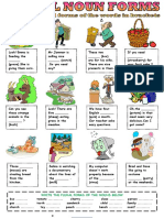 2. Plural Forms of Nouns Worksheet 1