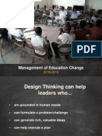 Design Challenge Powerpoint for Management of Education Change