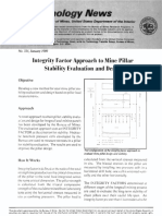 Illteglity Factor Approach to Mine Pillar