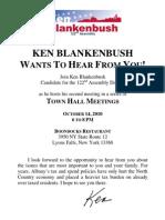 2nd Blankenbush Town Hall Flyer