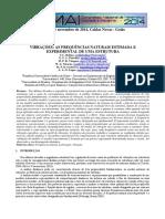 Vibrações - Frequencias Naturais Estimada e Experimental Em Estruturas