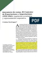 2004 ZURBRIGGEN Buscadores de Rentas. El Contralor de Exportaciones e Importaciones 1931-1961
