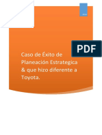 Caso de Exito de Planeacion Estrategica Que Hizo Difwrente a Toyota