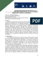 ABELLÁN. F. C.; GONZÁLEZ, J. a.; MOYA, M. P. Dinámicas y Transformaciones Recientes en Los Procesos de Expansión Territorial de Las Ciduades Medias en Castilla - La Mancha