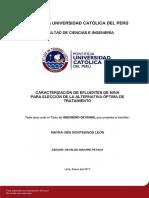 Carecterización de efluente de mina para su diseño óptimo.pdf