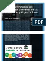 Inclusión de Personas Con Capacidades Diferentes en Las Instituciones y Organizaciones 2