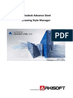 Advance Steel Drawing Style Manager