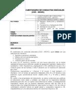 Ficha Técnica Cuestionario de Conductas Disociales CCD – MOVIC