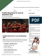 Prediksi Bola Roma vs Lazio 29 September 2018
