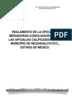 Reglamento de Las Oficialias Mediadoras-conciliadoras y Calificadoras