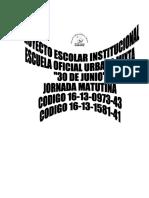 Proyecto Curricular30 de Junio JM