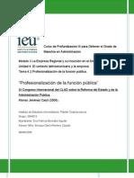 Profesionalización de la función pública