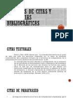 Ejemplos de Citas y Refrencias Bibliográficas Diapo